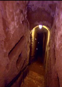 staircase to the catacombs of Rome